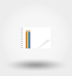 album for drawing and colored pencils vector image