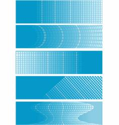 checker banners vector image vector image