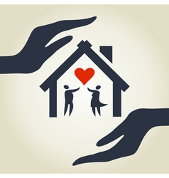 Love house vector image vector image