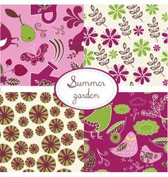 summer vintage vector image vector image