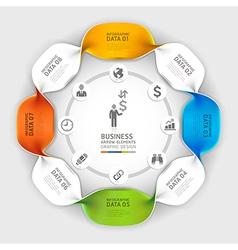 Business spiral infographics option vector image