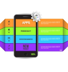 Infographic design with smartphone vector image