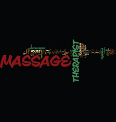 massage bill of rights text background word cloud vector image vector image