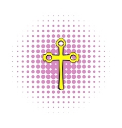 Religious symbol of crucifix icon comics style vector image vector image
