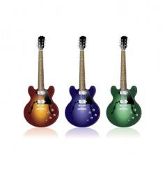 three guitars vector image vector image