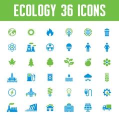 Ecology Icons Set - Creative vector image