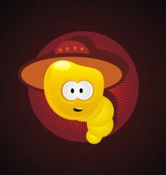Mexico worm vector image vector image