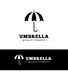 minimalistic black umbrella logo Simple vector image vector image