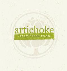 Artichoke farm fresh food eco green design vector
