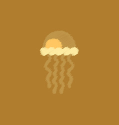 Jellyfish in hatching style vector