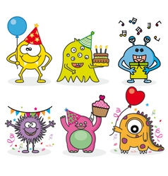 Monsters party vector image vector image
