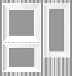 White frames background vector image vector image