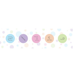 5 pipe icons vector