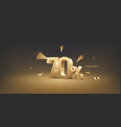 70 percent off discount sale vector image