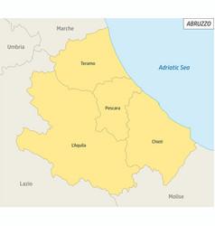 Abruzzo administrative map vector