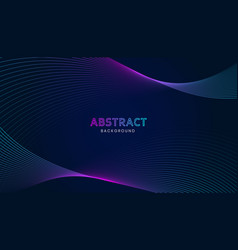 abstract dark background with wavy lines vector image