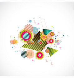Abstract mix colorful geometrical template vector