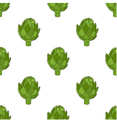 artichoke seamless pattern cartoon style vector image
