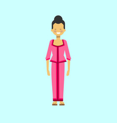 Asian woman in traditional dress vietnamese female vector