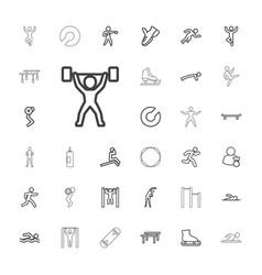Athlete icons vector