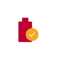 Battery icon template design vector