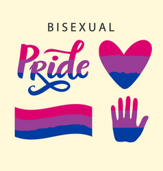 Bisexual pride symbols lgbt rights concept vector