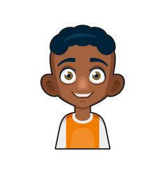 Black african american or hindu boy avatar vector