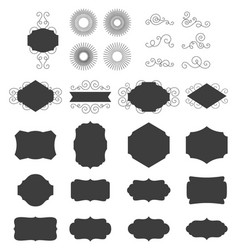 black frames set vector image