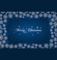 blue new year background with white snowflakes vector image