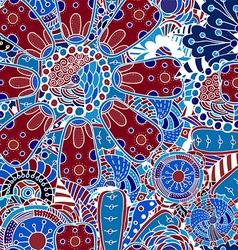Blue Retro Floral Background vector image