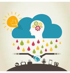 Brain rain vector