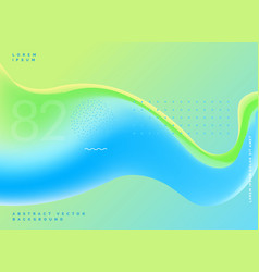 Bright fluid colors modern blue green background vector