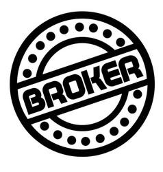 broker stamp on white vector image