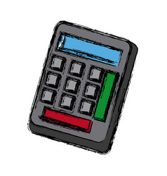 Calculator utensil work counting maths vector