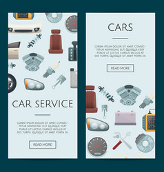 car parts web banner templates vector image