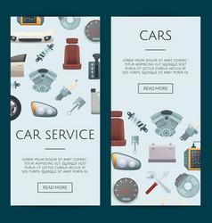 Car parts web banner templates vector