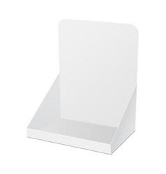 Cardboard pos display mock up isolated vector