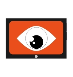 cellphone eye spy vector image