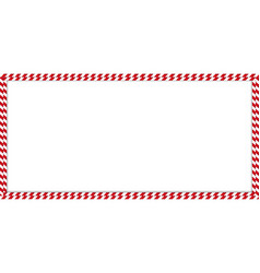 Christmas new year rectangle double candy cane vector