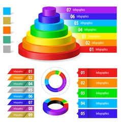 Color infographic vector image