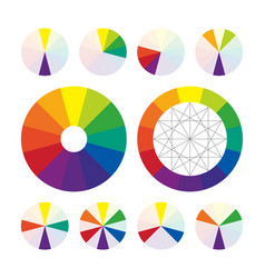 Color wheel types of color complementary schemes vector