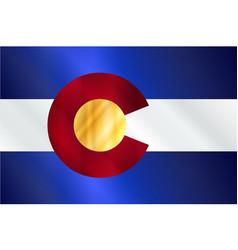 Colorado state flag gloss vector