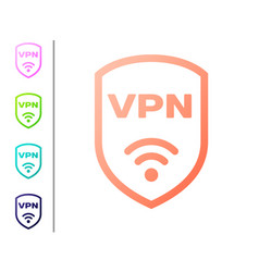 Coral shield with vpn and wifi wireless internet vector