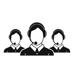 Customer support operators icon simple style vector