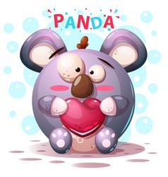 cute panda characters - cartoon vector image