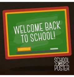 Cute school college university poster - school vector