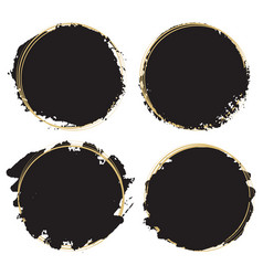 decorative grunge design elements - black paint vector image
