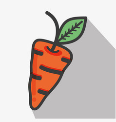 Delicious carrot vegetables food icon vector
