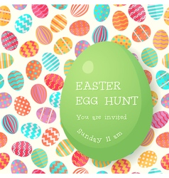 Easter egg hunt poster template vector image