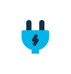 electric plug icon colored symbol premium quality vector image